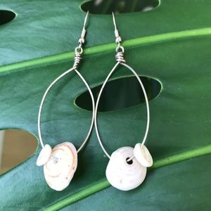 Jewelry - Handmade Puka shell earrings